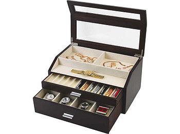 Шкатулка для хранения часов и ручек Базель, черный (Ou)