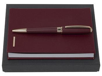 Подарочный набор Essential Lady Burgundy: блокнот А6, ручка шариковая. Hugo Boss