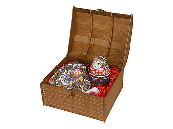 Подарочный набор Матрешка: штоф 0,5л, платок
