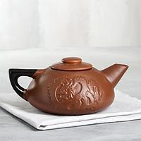 """Чайник для заварки """"Дракон"""", коричневая матовая глазурь, 1л"""