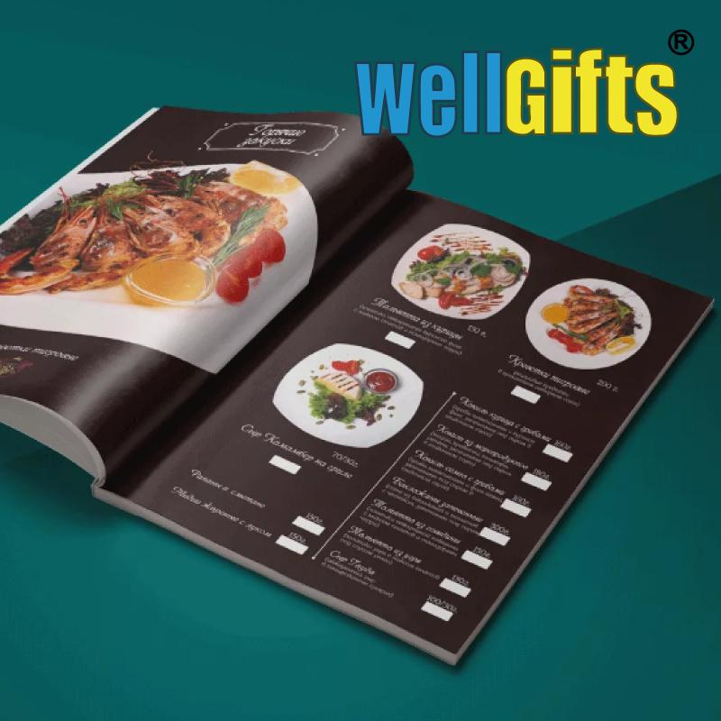 Изготовление меню для ресторанов и кафе