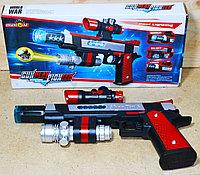 828 Пистолет ПИОНЕР муз,свет,на батар. 29*14см, фото 1