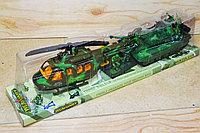 8672 Weaponry Танк вертолет+6 солдат в колбе 46*12см, фото 1