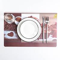 Салфетка кухонная двусторонняя «Кофе», 43×28 см