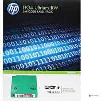 Набор наклеек Q2009A HPE LTO-4 Ultrium Read/Write Bar Code Label Pack