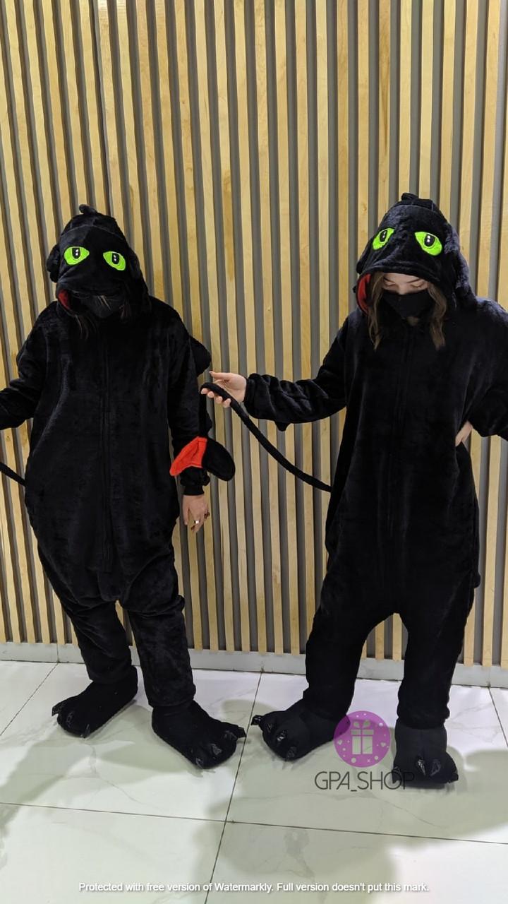 Детская пижама кигуруми ночная фурия (Беззубик)