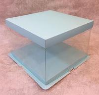 Подарочная нежно-голубая упаковка