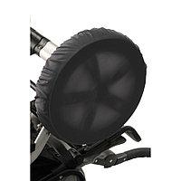 Чехлы на колеса коляски, 2 штуки, диаметр 18-28, цвет черный
