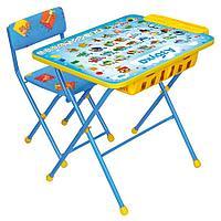 Набор мебели Ника КУ2П стол+пенал+мягкий стул Азбука арт КУ2П/9