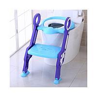Сиденье для унитаза Pituso с лесенкой голубой