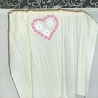 Одеяльце-плед молочный с вышивкой, в ассортименте
