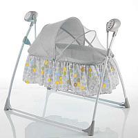 Электрическая люлька детская арт.237, цвет серый