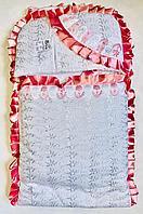 Комплект на выписку Шитье, розовый, 3 предмета