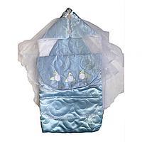 Комплект на выписку ARSI Нежный бутон (синт. 150), цвет голубой Арт.1006/Г