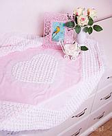 Плед на выписку ARSI премиум класса Аморе лето розовый, Арт 1030Р