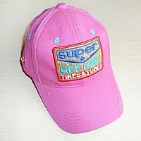 Кепка для девочки розовая Super