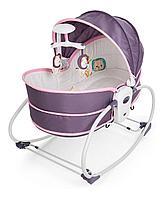 Люлька баунсер для новорожденных Bambi 5 в 1 сиренево-розовый