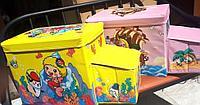 Ящик-пуф для игрушек Автобус с кабиной