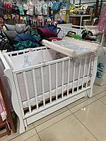 Детская кроватка Лель Кубаночка - 4 БИ 40 Белый, в сборе, витрина