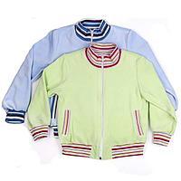 Куртка детская велюровая, голубая (110 см)