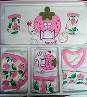 Подарочный набор для новорожденной девочки 10в1, 0-3мес.