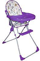 Стульчик для кормления Selby 152 Совы фиолетовый