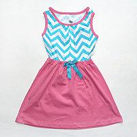 Платье розовое с голубым зигзагом арт2809