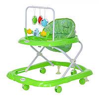 BAMBOLA Ходунки ЗВЕРУШКИ (6 пласт.колес,игрушки,муз) Зеленый
