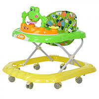 BAMBOLA Ходунки ЛЯГУШОНОК (8 силик.колес,игрушки,муз) GREEN Зеленый