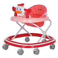 BAMBOLA Ходунки МАНДАРИНКА (7 силик.колес,игрушки,муз) RED Красный