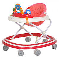 BAMBOLA Ходунки ОАЗИС (7 силик.колес,игрушки,муз) RED Красный
