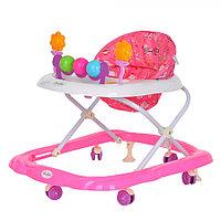 BAMBOLA Ходунки ЦВЕТОЧЕК (6 пласт.колес,игрушки,муз) Розовый/Фиолетовый