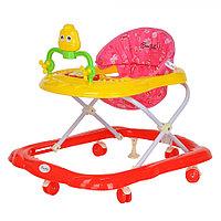 BAMBOLA Ходунки ЦЫПА (6 пласт.колес,игрушки,муз) RED Красный