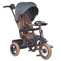 "Велосипед 3-х колесный Mini Trike T400-17 JEANS (12""/10"") TRANSFORMER collection Jeans Black"