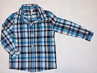 Рубашка длинный рукав в клетку (2 год)
