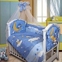 Комплект в кровать Золотой гусь ЁЖИК ТОПА-ТОП (8 предметов), цвет голубой