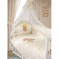 Комплект в кровать Золотой гусь Мишка-Царь (8 предметов), цвет бежевый