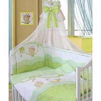 Комплект в кровать Золотой гусь Улыбка (7 предметов), цвет зеленый