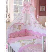 Комплект в кровать Золотой гусь Улыбка (7 предметов), цвет розовый