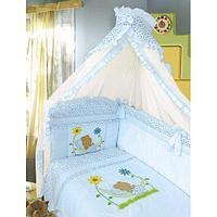 Комплект в кровать Золотой гусь Сладкий сон (7 предметов), цвет голубой