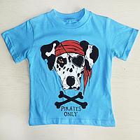 Футболка голубая Pirates only арт160033 (98 см)