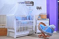 Комплект в кровать GulSara 46 (6 предметов), Бязь Голубой