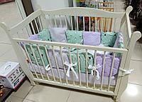 Комплект в кроватку Первенец (6 предметов) Страна Чудес арт 71-6 Кролики