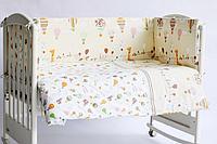 Комплект в кроватку (6 предметов) Лимпопо бежевый арт 616403/3