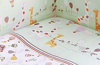 Комплект в кроватку (6 предметов) Лимпопо зеленый арт 616403/4