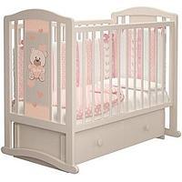 Детская кроватка Можгинский лесокомбинат Тедди с ящиком Слоновая кость