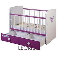 Детская кроватка Glamvers MAGIC PLUS цветная Фиолетовая
