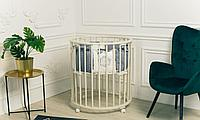 Кровать - трансформер Caramelia Sweet Dream 3в1 на колёсиках Слоновая кость