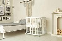 Кровать - трансформер Incanto Эмили 12в1 овальная Белый