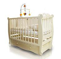 Детская кроватка Можгинский лесокомбинат Алиса с ящиком Слоновая кость